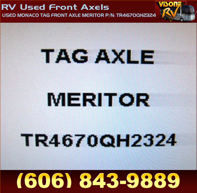 RV_Used_Front_Axels