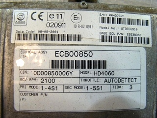 USED ALLISON ECU W-TECH 3 CONTROLLER P/N: 29538352  **OUT OF STOCK**