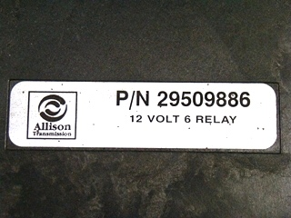 USED ALLISON 12V RELAY P/N: 29509886