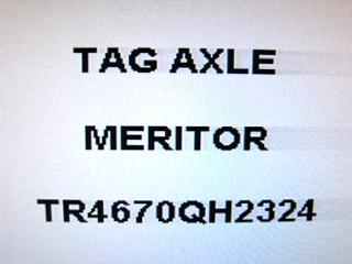 USED MONACO TAG FRONT AXLE MERITOR P/N: TR4670QH2324