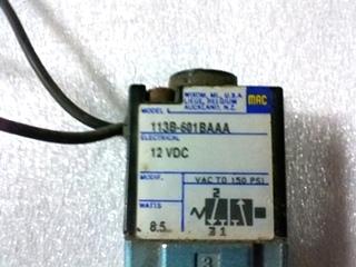 USED MAC INDUSTRIES AIR STEP SOLENOID P/N: 113B-601BAAA