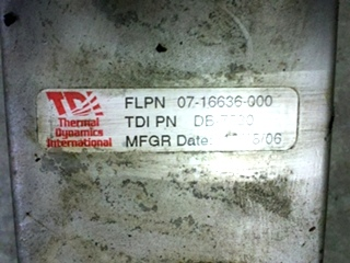 USED RV/MOTORHOME TRANSMISSION COOLER THERMAL DYNAMICS PN 07-16636-000 FOR SALE