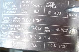 CUMMINS DIESEL ENGINE | CUMMINS 8.8L ISL400 FOR SALE - LOW MILES