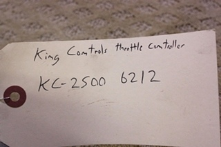 USED KING CONTROL THROTTLE CONTROLLER FOR SALE