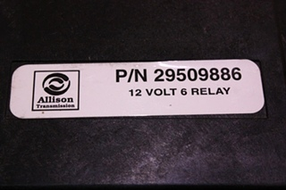 USED ALLISON 12 VOLT 6 RELAY PART NO. 29509886 FOR SALE