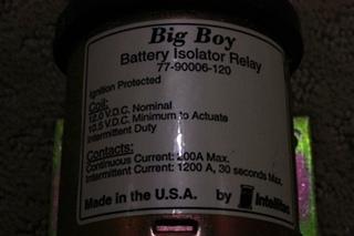 USED INTELLITEC BIG BOY BATTERY ISOLATOR RELAY 77-90006-120 FOR SALE