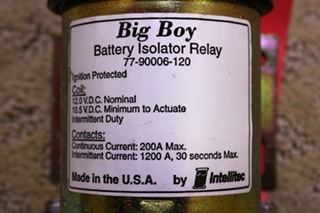 USED INTELLITEC BATTERY ISOLATOR RELAY FOR SALE