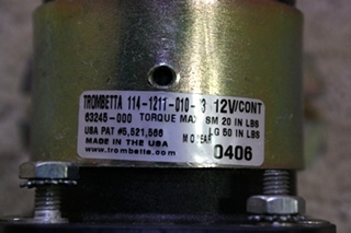 USED TROMBETTA SOLENOID 114-1211-010-03 FOR SALE