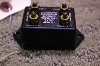 USED 10 AMP DUAL THERMAL CIRCUIT BREAKER FOR SALE