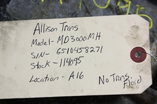 USED ALLISON TRANSMISSION  | MD3000MH TRANSMISSION