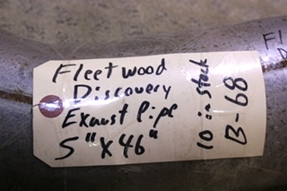 03, 04, 05, 06 FLEETWOOD DISCOVERY EXHAUST PIPE FOR SALE