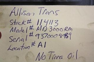 USED ALLISON TRANSMISSION MD3000RM FOR SALE