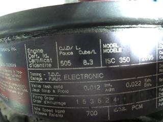 CUMMINS DIESEL ENGINE 8.3L 350HP FOR SALE - LOW MILES