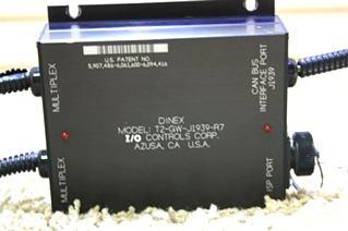 USED DINEX I/O CONTROL MODULE T2-GW-J1939-R7 RV PARTS FOR SALE