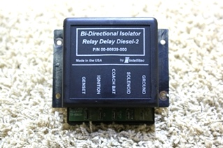 USED RV INTELLITEC BI-DIRECTIONAL ISOLATOR RELAY DELAY DIESEL-2 00-00839-000 FOR SALE