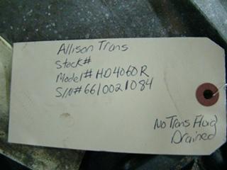 ALLISON AUTOMATIC TRANSMISSION | USED ALLISON 4060R AUTOMATIC TRANSMISSION FOR SALE