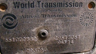 USED ALLISON TRANSMISSION | ALLISON MD3060 TRANSMISSION  FOR SALE