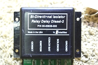 USED RV BI-DIRECTIONAL ISOLATOR RELAY DELAY DIESEL-2 00-00839-000 BY INTELLITEC FOR SALE