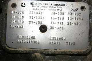 USED MOTORHOME/RV MD3000MH ALLISON TRANSMISSION FOR SALE