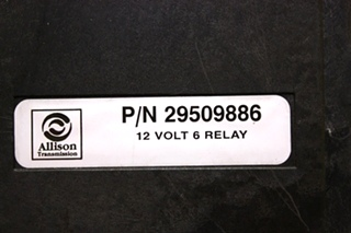 USED ALLISON TRANSMISSION 12 VOLT 6 RELAY 29509886 RV PARTS FOR SALE