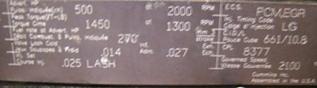 USED CUMMINS DIESEL MOTOR | CUMMINS DIESEL ISM500 500HP YEAR 2004 FOR SALE