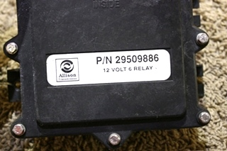 USED ALLISON TRANSMISSION 12 VOLT 6 RELAY 29509886 MOTORHOME PARTS FOR SALE