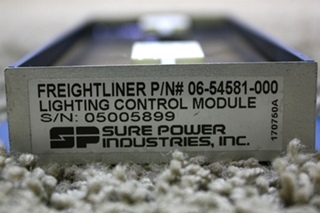 USED RV SURE POWER LIGHT CONTROL MODULE FREIGHTLINER P/N 06-54581-000 FOR SALE
