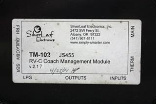 USED RV SILVERLEAF ELECTRONICS RV-C COACH MANAGEMENT MODULE TM-102 FOR SALE