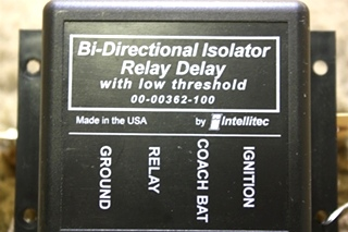 USED RV INTELLITEC BI-DIRECTIONAL ISOLATOR RELAY DELAY 00-00362-100 FOR SALE