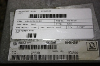 USED RV ALLISON TRANSMISSION ECU 29517002 FOR SALE