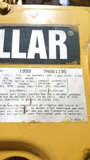 CATERPILLAR DIESEL ENGINE   CATERPILLAR 3126 7.2L 250HP YEAR 1999 FOR SALE