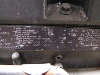 USED CUMMINS DIESEL MOTOR | CUMMINS DIESEL ISM450 450HP YEAR 2001 FOR SALE