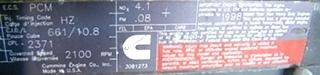 USED CUMMINS DIESEL MOTOR | CUMMINS DIESEL ISM450 450HP YEAR 1998 FOR SALE