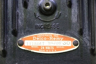 USED 1118447 DELCO-REMY 24 VOLT REGULATOR FOR SALE