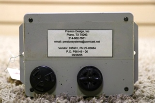 USED RV PRESTON DESIGN MODULE 27-83684 FOR SALE