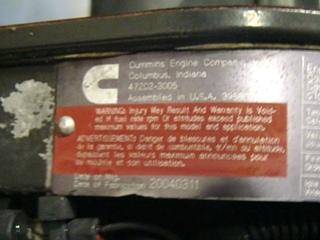 USED CUMMINS DIESEL | 8.8L ISL370 FOR SALE - 51,000 MILES